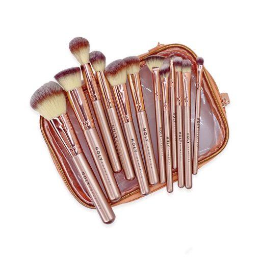 Brochas maquillaje deluxe set 12 piezas tendencia 2020 Holy Cosmetics